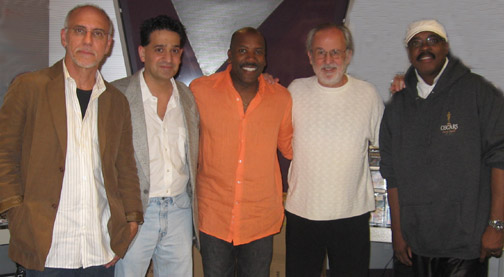 Joey P. with Larry Carlton, Nathan East, Bob James, and Harvey Mason