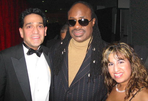 Joey P. and Stevie Wonder