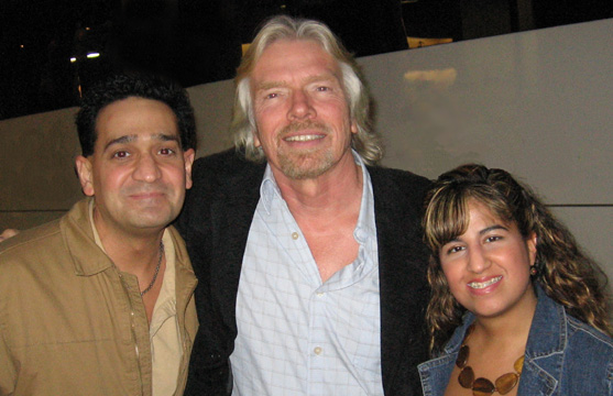 Joey P. with Sir Richard Branson and Christine