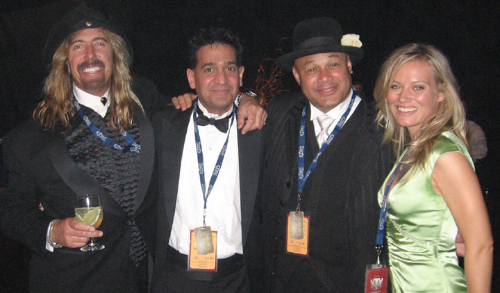 Jeff Watson, Joey P., and Narada Michael Walden at the Grammy Awards in Los Angeles