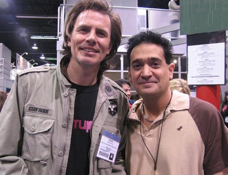 Duran Duran's John Taylor with Joey P.