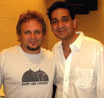 Van Halen's Michael Anthony with Joey P.