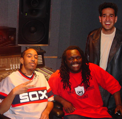 "Grammy-winning rap artist Ludacris with Dale ""RamBro"" Ramsey & Joey P."